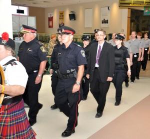 Police Week march through 1000 Islands Mall